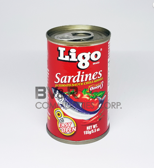LIGO SARDINES in TOMATO SAUCE CHILI added