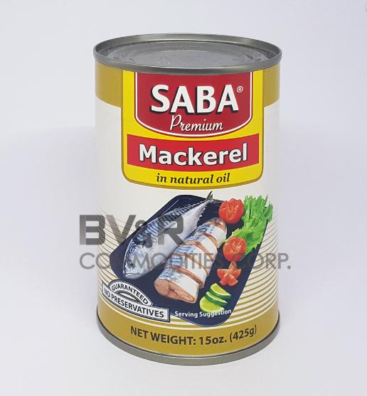 SABA PREMIUM MACKEREL in NATURAL OIL