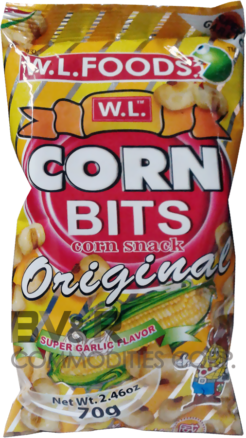 W.L. CORN BITS CORN SNACK ORIGINAL SUPER GARLIC FLAVOR