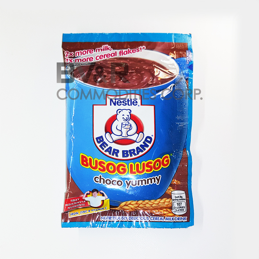 BEAR BRAND BUSOG LUSOG CHOCO YUMMY NUTRITIOUSLY DELICIOUS CEREAL MILK DRINK