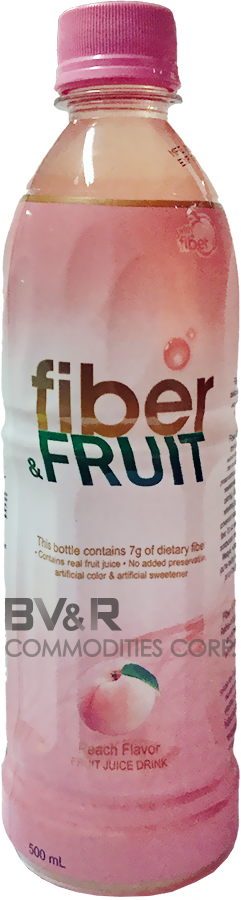 FIBER & FRUIT PEACH FLAVOR FRUIT JUICE DRINK