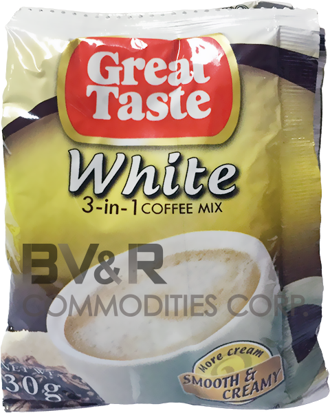 GREAT TASTE TRIO 3 in 1 COFFEE MIX SMOOTH and CREAMY WHITE COFFEE