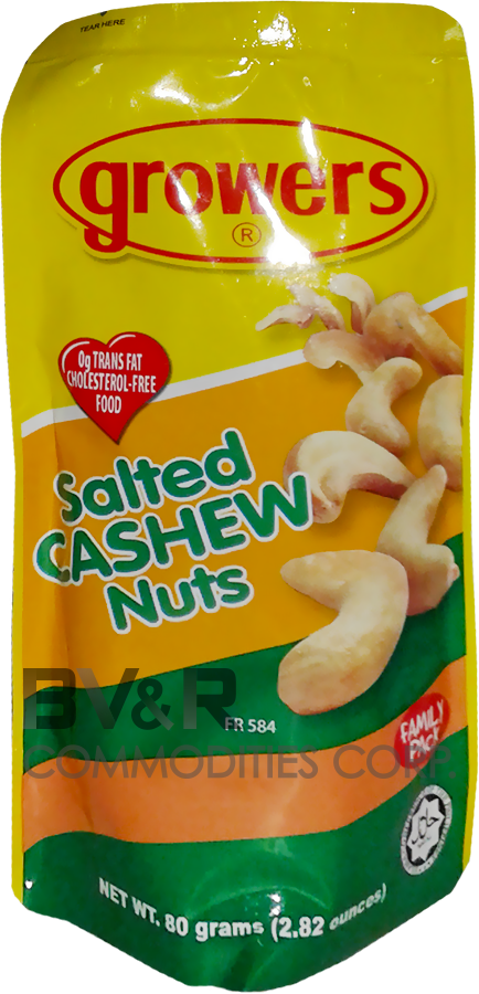 GROWERS SALTED CASHEW NUTS