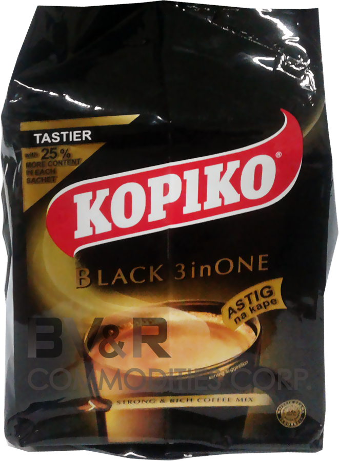 KOPIKO BLACK 3 in ONE STRONG & RICH COFFEE MIX