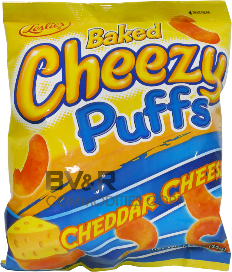 LESLIE'S BAKED CHEEZY PUFFS CHEDDAR CHEESE