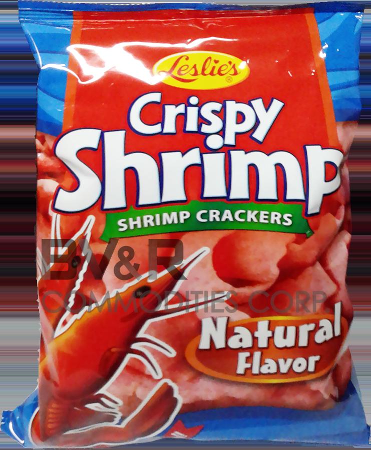 LESLIE'S CRISPY SHRIMP CRACKERS NATURAL FLAVOR