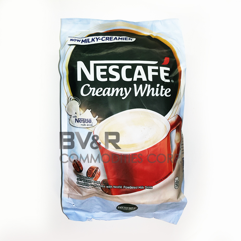 NESCAFÉ CREAMY WHITE COMPLETE COFFEE MIX with NESTLÉ POWDERED MILK DRINK