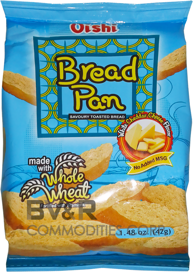 OISHI BREAD PAN SAVORY TOASTED BREAD WHITE CHEDDAR CHEESE FLAVOR