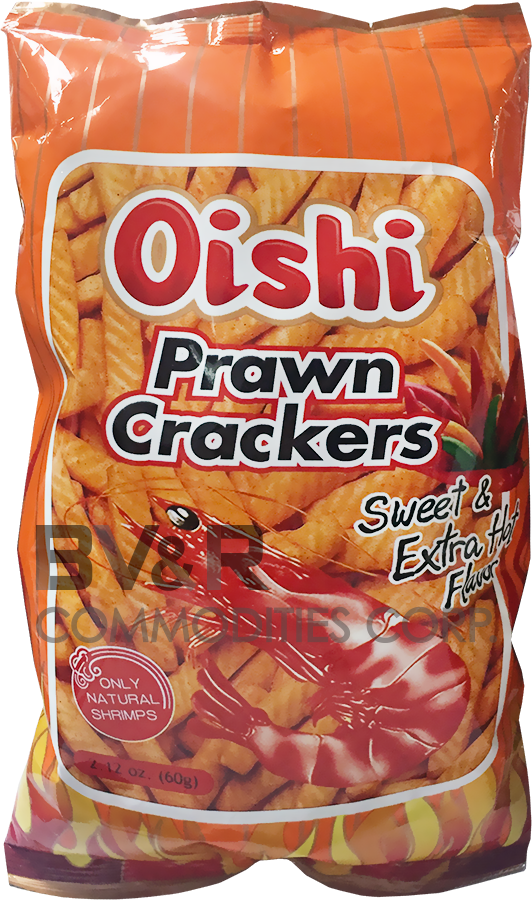 OISHI PRAWN CRACKERS SWEET & EXTRA HOT FLAVOR