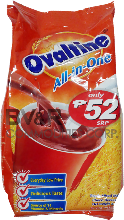 OVALTINE ALL-IN-ONE READY MIXED MALT CHOCO BEVERAGE