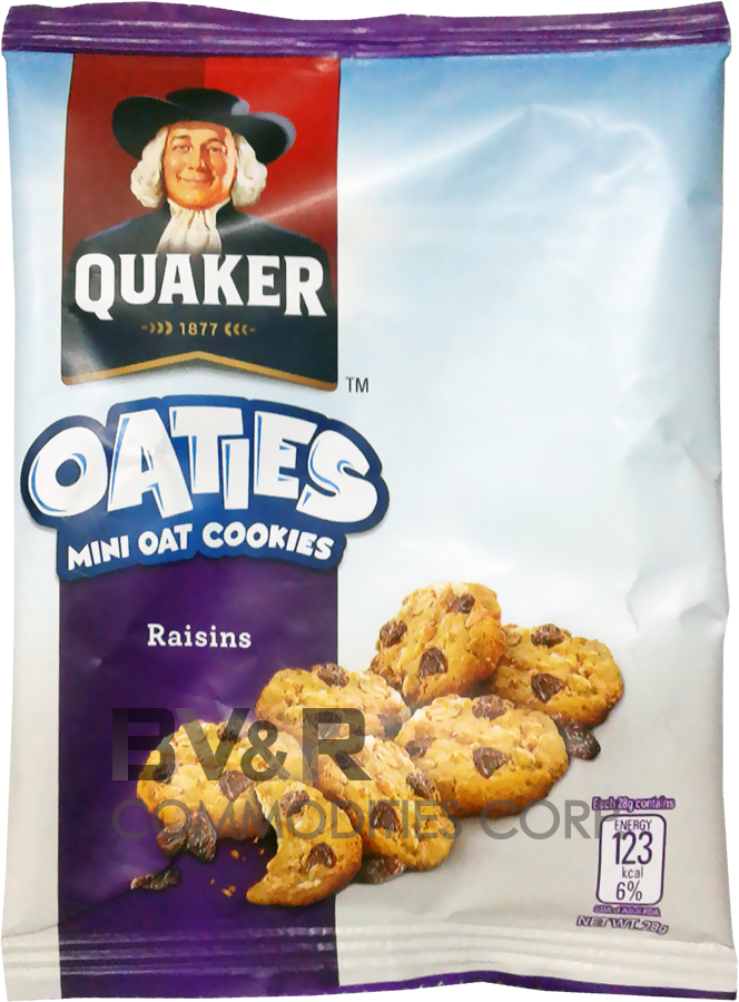 QUAKER OATIES MINI OAT COOKIES RAISINS