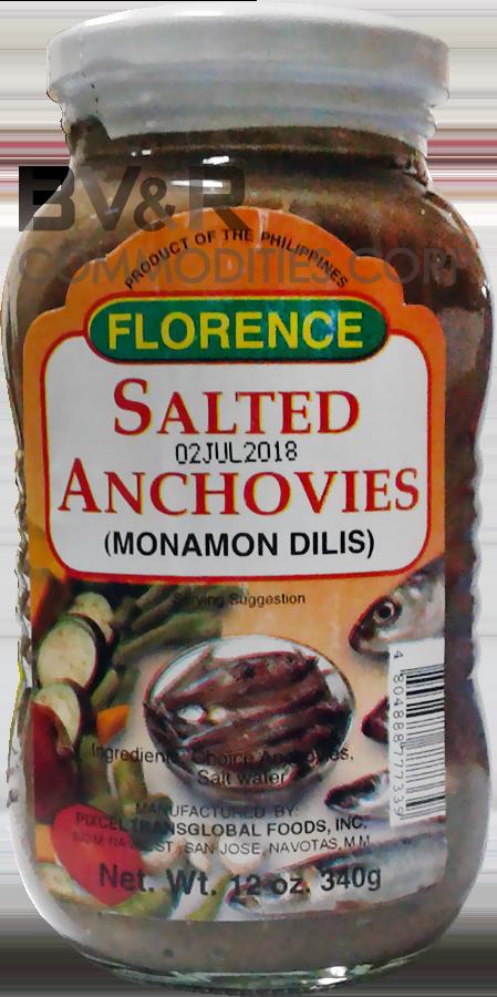 FLORENCE SALTED ANCHOVIES (MONAMON DILIS)