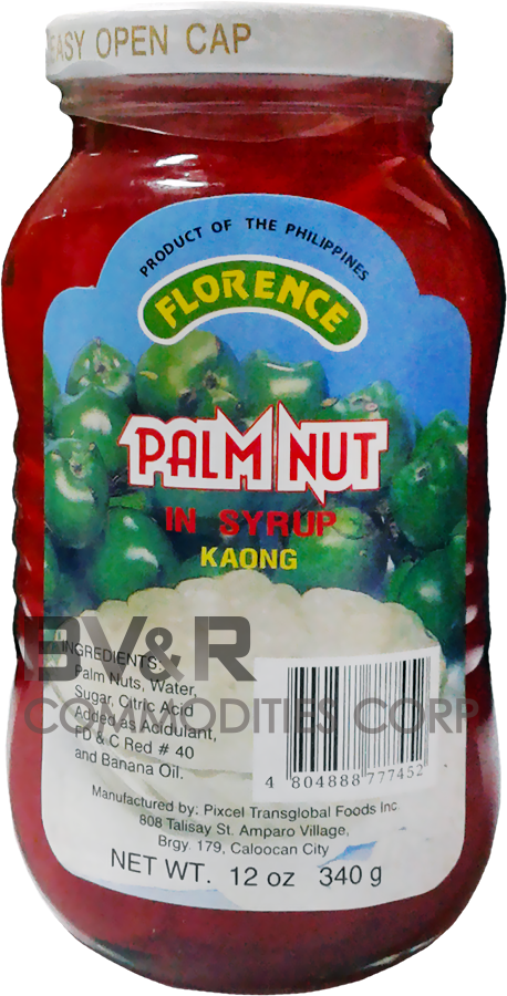 FLORENCE RED PALM NUT (KAONG) in SYRUP