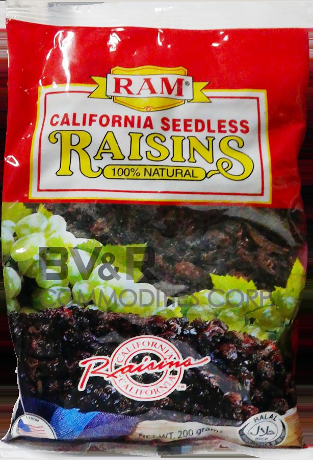 RAM CALIFORNIA SEEDLESS RAISINS