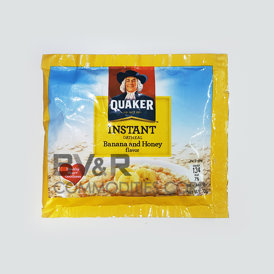 QUAKER INSTANT OATMEAL BANANA and HONEY FLAVOR