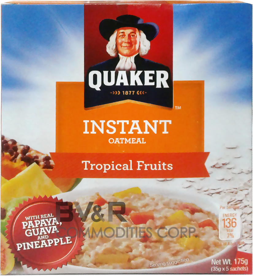 QUAKER INSTANT OATMEAL TROPICAL FRUITS