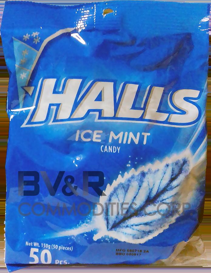 HALLS ICE MINT CANDY